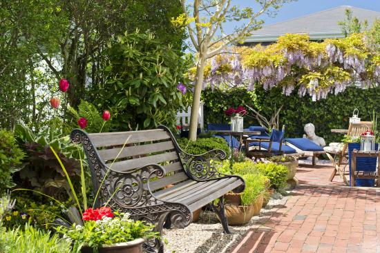 our beautiful garden - place to sit and relax - Picture of Benchmark ...