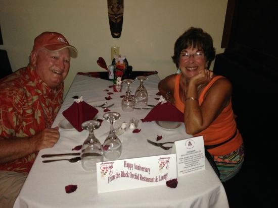 Black Orchid Restaurant: Our Anniversary Dinner at Black Orchid