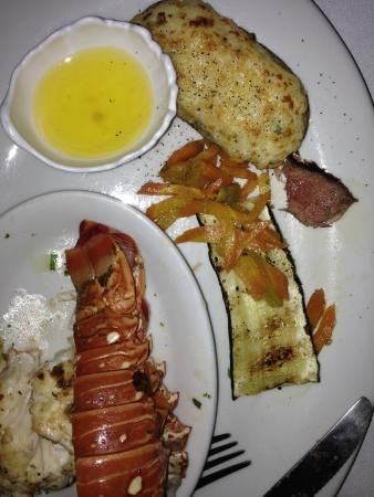 Black Orchid Restaurant: Delicious Lobster, Veggies and Twice Baked Potato