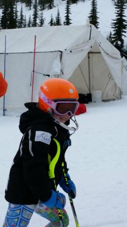 Schweitzer Mountain: One of our twins. Age 9