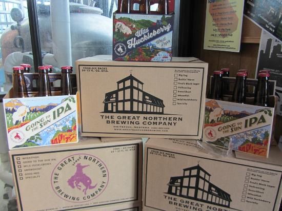 Great Northern Brewing Company: Selection of Lagers & Ales on display at the entrance