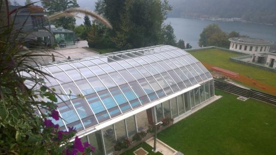 Kompas Hotel Bled: La piscina vista dalla nostra camera