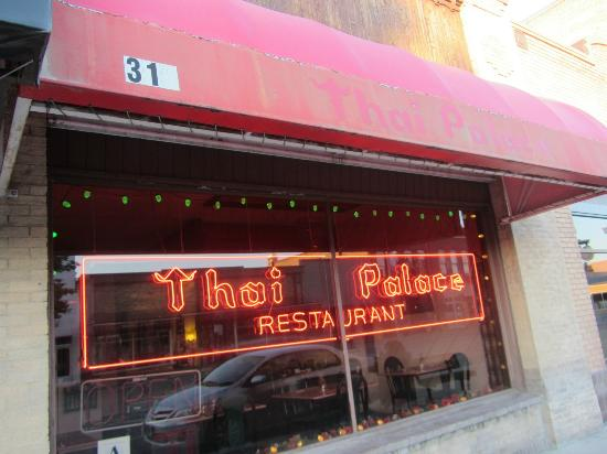 View From The Pavement Picture Of Thai Palace Restaurant