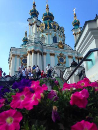 Andriyivski Uzviz: Андреевская церковь, Андреевский спуск