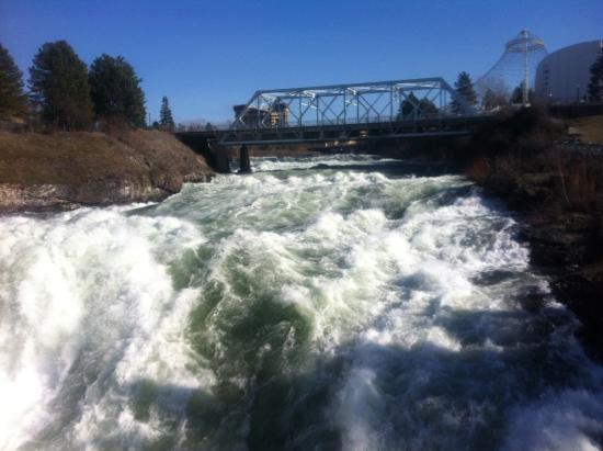 Spokane Club Inn : A four block walk to Spokane River Falls!!