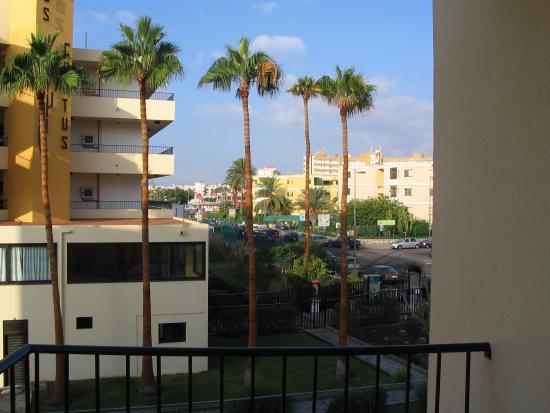 Los Ficus: uitzicht vanaf het balkon
