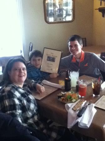 The Grill House: family waiting on me