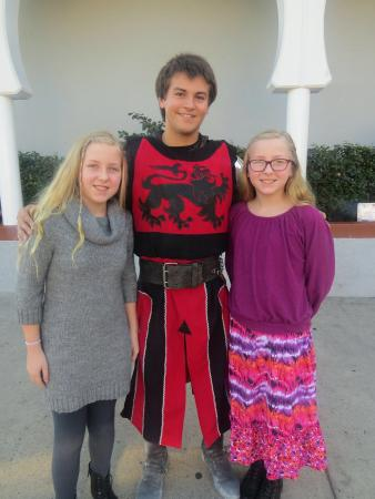 Medieval Times Buena Park: Me, my sister, and the Red Knight!!