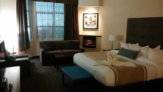 Best Western Brantford Hotel & Conference Centre : Sitting area and fireplace