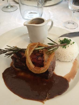 Jemima's Restaurant: Kudu steak, sorry looked better as it was
