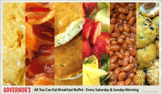 Governor S Restaurant Breakfast Buffet
