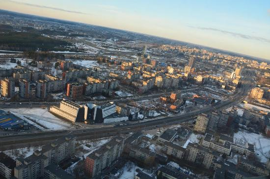 Vue Depuis Le Haut De La Tour Picture Of Vilnius Tv Tower Vilnius