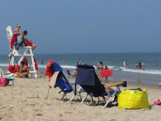 Beach Bum Motel: Short walk to the soft white sand and guarded beach in Ocean City Maryland