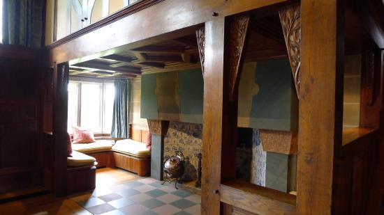 Blackwell, The Arts & Crafts House: Main Hall, inglenook fireplace with keyed lintel