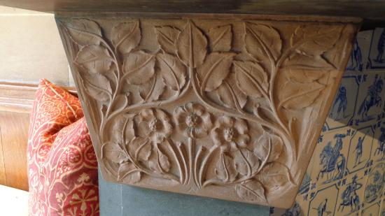 Bowness-on-Windermere, UK: Main Hall,  inglenook fireplace detail