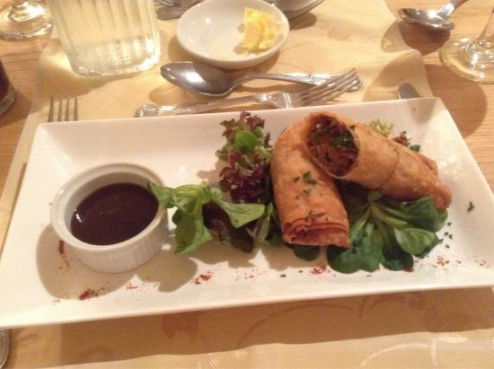 Shaw Country House Hotel: Delicious pulled pork spring rolls