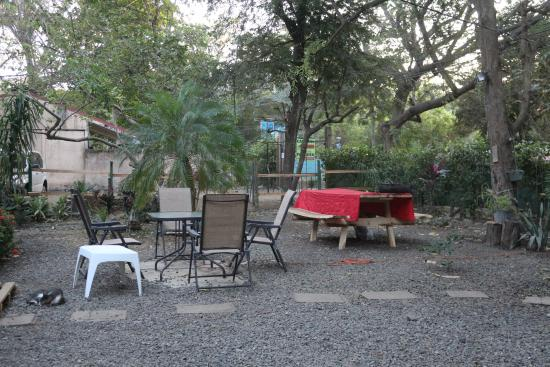 Patio Picture Of Congo S Hostel Amp Camping Playa Hermosa