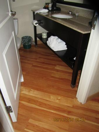 La Quinta Inn & Suites Chambersburg: floor area in bathroom