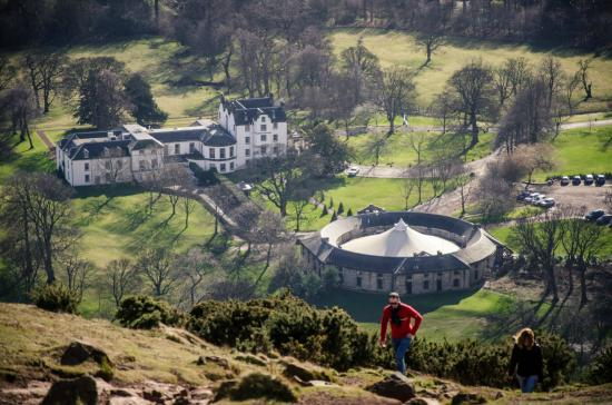 Prestonfield from atop Arthur's Seat.