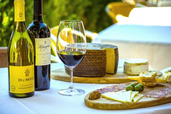 Enjoy fine wine and artisan cheese at Amber Bistro