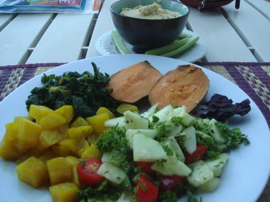 Grass Valley, CA: One of the beautiful and health vegetarian / vegan meals.