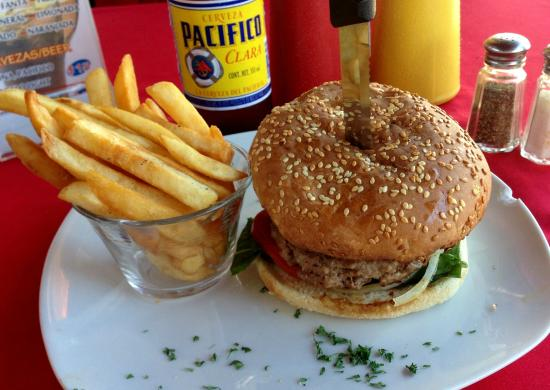 A Taste of Italy: hamburger, fries and a beer for $6