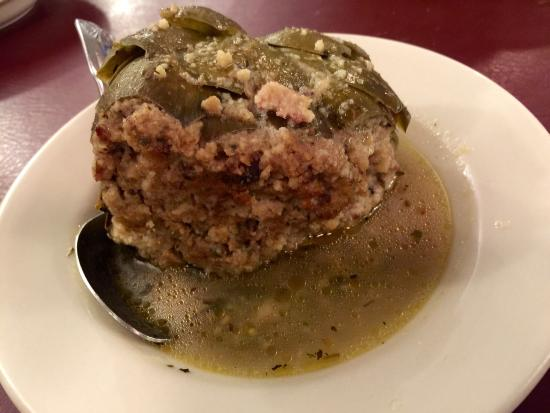 Dominick's Restaurant: The artichoke...