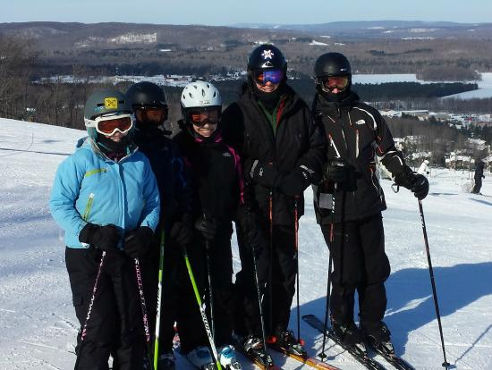 Boyne Mountain Resort: A cold day at the top of Meadows chairlift
