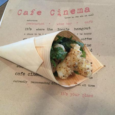 Cafe Cinema: CC's calamari is 'world famous' for it's tenderness and palm sugar and citrus dressing...