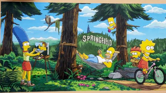 The Offical Simpsons Mural