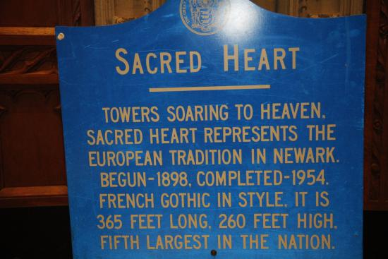 Cathedral Basilica of the Sacred Heart : A sign inside