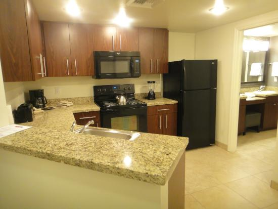 The Grandview at Las Vegas: You got everything in a kitchen except a pair of scissors.