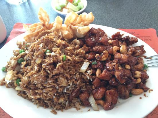 Sichuan Gourmet: Chicken cashew lunch special
