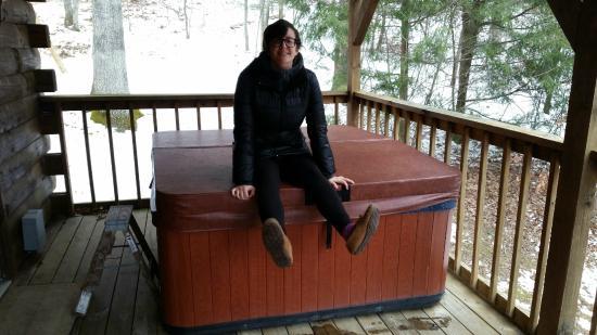 Buckeye Cabins: HOTTUB