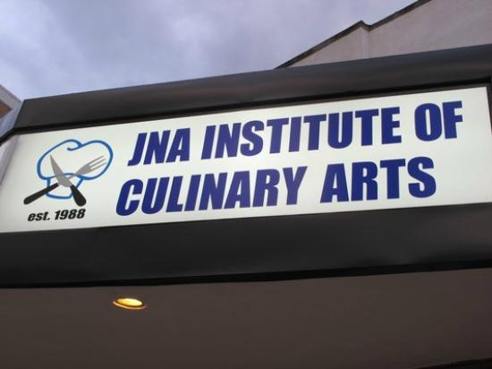 JNA Institute of Culinary Arts: Front Sign