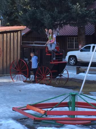 Riverside Lodge & Cabins: Kids in the park.