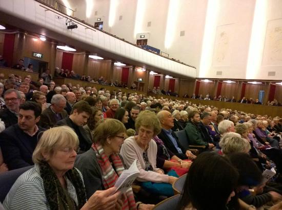 Royal Liverpool Philharmonic: The hall. Stuffy 1950s cinema style.