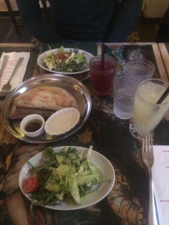 Nanuchka: Starter salads and bread as part of the business menu