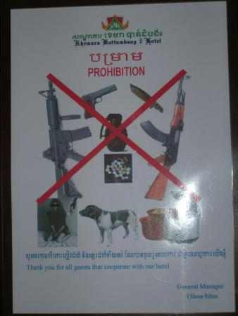 Khemara Battambang Hotel: Room restrictions