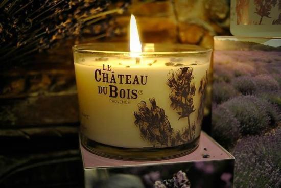 Pure Lavande - Le Château du Bois : La bougie parfumée