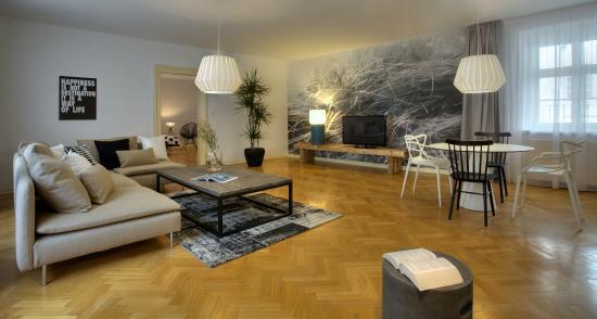 Prague Apartments U Kapra: U Kapra Apartments | Spacious Living Room