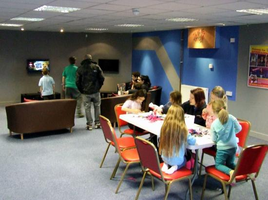 Pontins Pakefield Holiday Park: sticking / cutting / craft area for kids