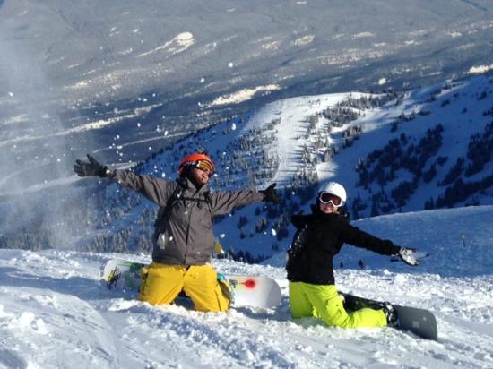 Marmot Basin Ski Area: My kids smiles are priceless.