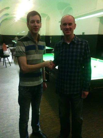 Ötker Snooker Club and Pub: Peter Ebdon & Zsolt Fenyvesi