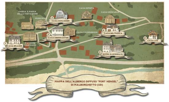 Cartina 5d.Mappa Albergo Diffuso Fort Hensel Malborghetto Picture Of Ad Fort Hensel Malborghetto Tripadvisor