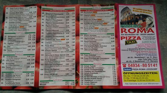 Pizzeria Roma, Leezdorf - Am Sandkasten 68 - Restaurant ...