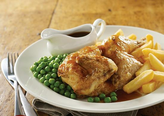 Brewers Fayre Castlewood: Half roast chicken