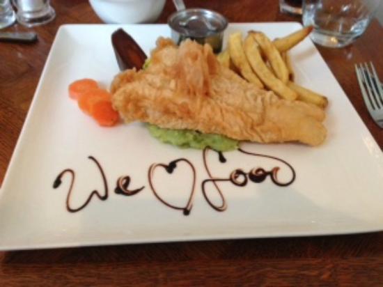 Compton Swan: Lunch - fried hake