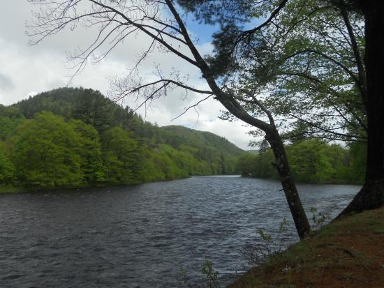The Cabins In Hope: Sacandaga River borders the property