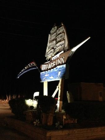 The Village Inn: Roadside sign